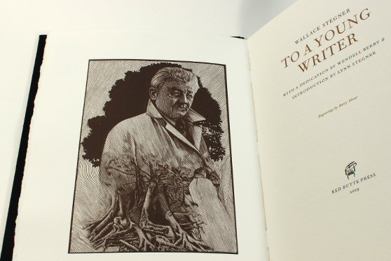 Barry Moser's engraved title page spread of the Red Butte Press edition of Wallace Stegner's To a Young Writer