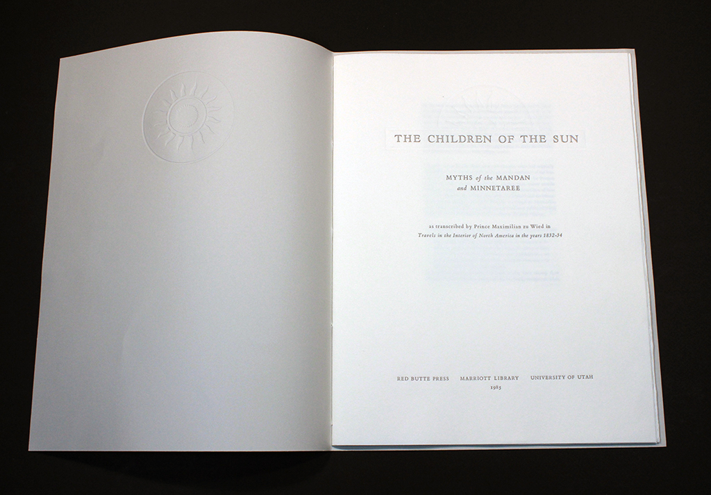 "Title page from ""Children of the Sun"""