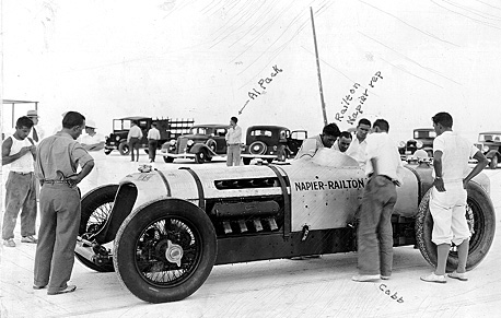 John Cobb's Napier-Railton which held the record of 134.85 m.p.h. for a 24 hour period