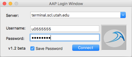 AAP Login Window