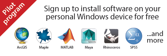 Sign up to install software on your personal Windows device for free