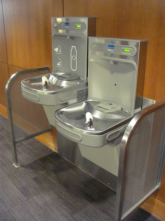 New water bottle refilling stations