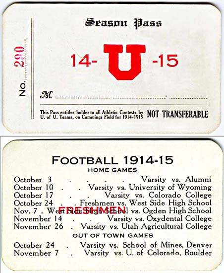University of Utah season pass